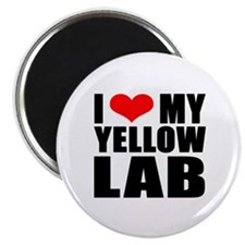 """I Love My Yellow Lab Products 2.25"""" Magnet (1"""