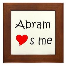 Funny Abram Framed Tile