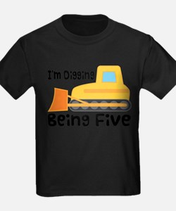 5th Birthday Bulldozer T-Shirt