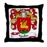 Verdier Family Crest Throw Pillow