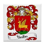 Verdier Family Crest Tile Coaster