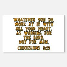 Colossians 3:23 Rectangle Decal