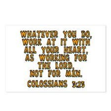 Colossians 3:23 Postcards (Package of 8)