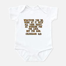 Colossians 3:23 Infant Bodysuit