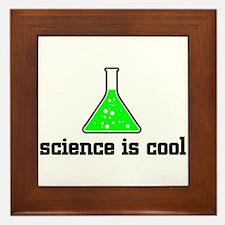Science is cool Framed Tile