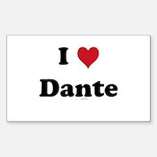 I love Dante Rectangle Decal