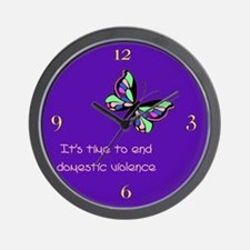 Time to End Domestic Violence Wall Clock
