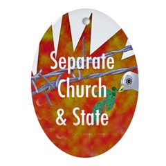 Separate Church and Hate Keepsake (Oval)