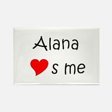 Cute Alana Rectangle Magnet