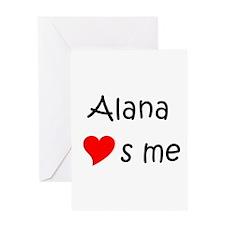 Cute Alana Greeting Card