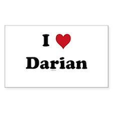 I love Darian Rectangle Decal