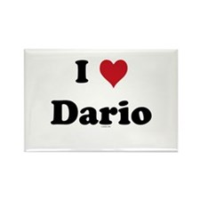 I love Dario Rectangle Magnet