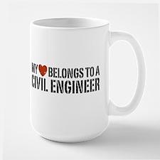 My Heart Belongs to a Civil Engineer Large Mug
