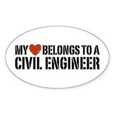 My Heart Belongs to a Civil Engineer Decal