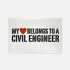 My Heart Belongs to a Civil Engineer Rectangle Mag