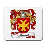 Villeneuve Family Crest Mousepad