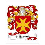 Villeneuve Family Crest Small Poster