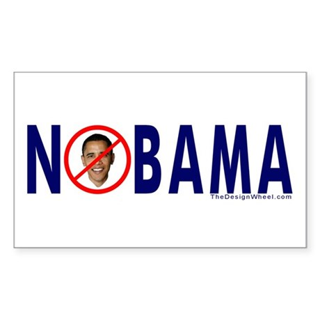NOBAMA Busters Rectangle Sticker
