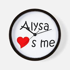 Funny Alysa Wall Clock