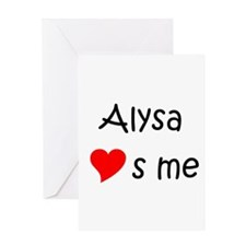 Cool Alysa Greeting Card