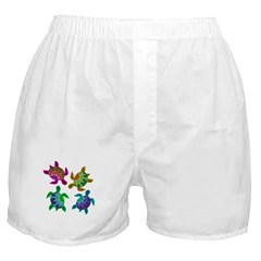 Multi Painted Turtles Boxer Shorts