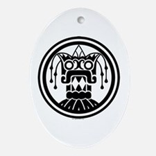 Tlaloc Oval Ornament