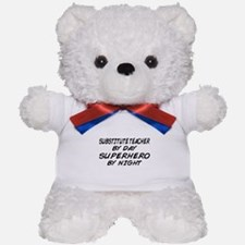 Substitute Teacher Superhero by Night Teddy Bear