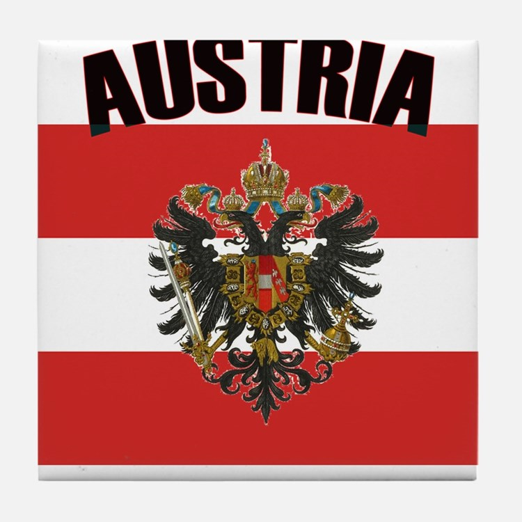 Cute Austria Tile Coaster