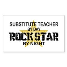 Substitute Teacher Rock Star by Night Decal