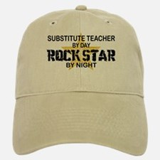 Substitute Teacher Rock Star by Night Baseball Baseball Cap