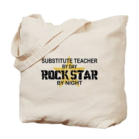Substitute Teacher Rock Star by Night Tote Bag