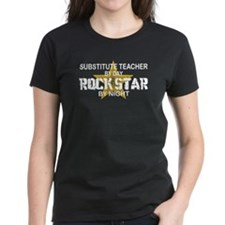 Substitute Teacher Rock Star by Night Tee