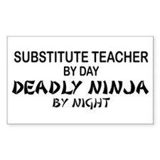 Substitute Teacher Deadly Ninja by Night Decal