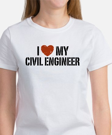 I Love My Civil Engineer Women's T-Shirt