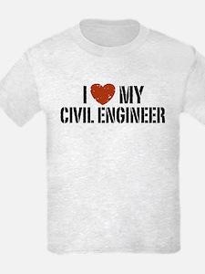 I Love My Civil Engineer T-Shirt