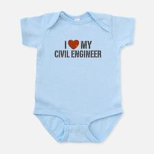 I Love My Civil Engineer Onesie
