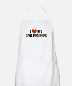 I Love My Civil Engineer BBQ Apron