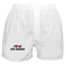 I Love My Civil Engineer Boxer Shorts