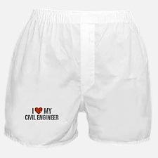 I Love My Civil Engineer Boxer Shorts