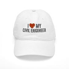 I Love My Civil Engineer Baseball Cap