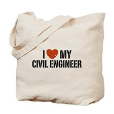 I Love My Civil Engineer Tote Bag
