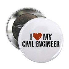 "I Love My Civil Engineer 2.25"" Button"