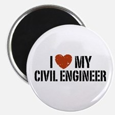 I Love My Civil Engineer Magnet