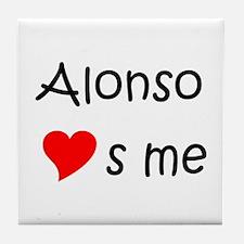 Funny Alonso Tile Coaster