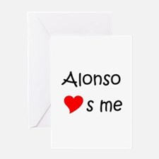 Funny Alonso Greeting Card