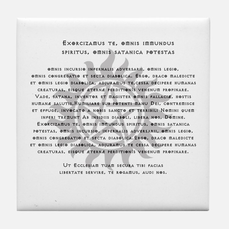 Cute Supernatural exorcism Tile Coaster