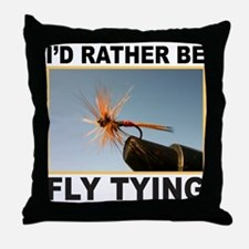 FLY TYING Throw Pillow