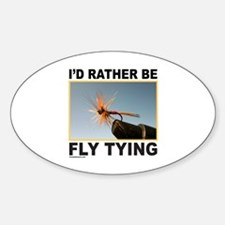 FLY TYING Oval Decal
