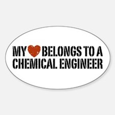 My Heart Belongs to a Chemical Engineer Decal