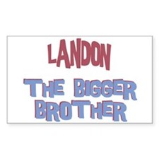 Landon - The Bigger Brother Rectangle Decal